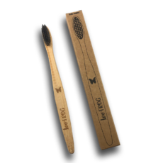 Brosses à Dents Bambou Charbon Actif - Adulte - Papillon